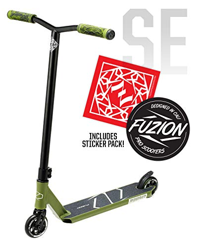 Fuzion Z250 Pro Scooters - Trick Scooter - Intermediate and Beginner Stunt Scooters for Kids 8 Years and Up, Teens and Adults – Durable, Smooth, Freestyle Kick Scooter for Boys and Girls (SE Green)