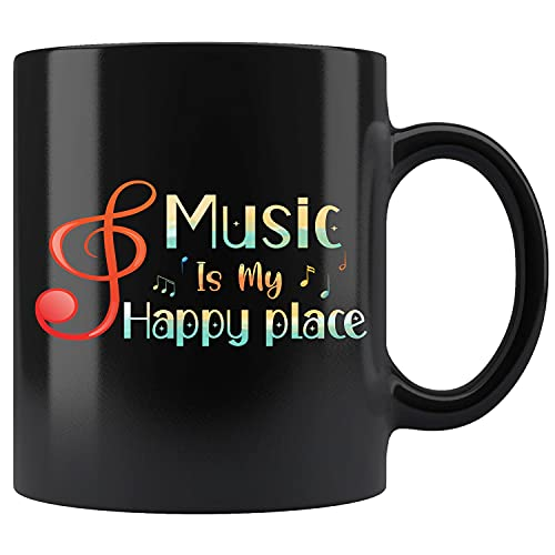 Music Is My Happy Place Musical Theater Ceramic Coffee Mug Tea Cup