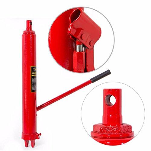 XtremepowerUS 8 Ton Capacity Long Hydraulic Ram Jack Engine Lift Hoist Manual Cherry Picker w/Handle