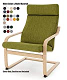 Vepping Lude Multi Colored IKEA Poäng Armchair Replacement Cover, Cushion not Included (Cushion Design 1, Polyester - Green)