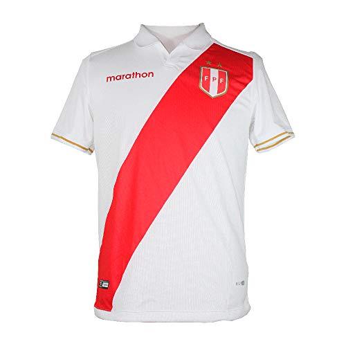 Jersey Peru COPA America 2019 Home ESTADIO Marathon Original PRODUCTO Oficial (Medium) White