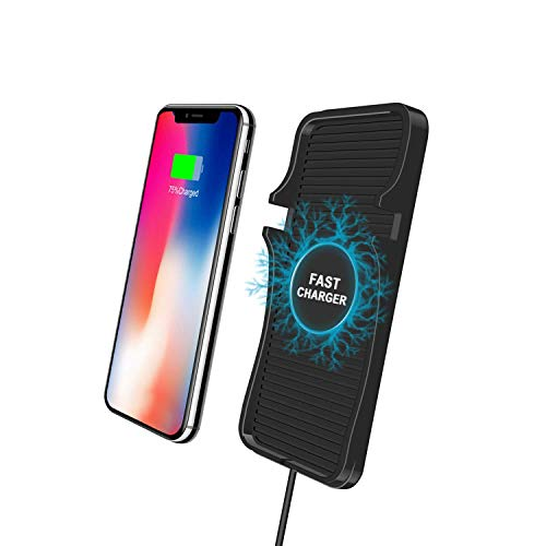 GODRYFT by GoMechanic Accessories 2 in 1 Anti-Skid Car Dashboard Mat with Qi Wireless Fast Mobile Charger for All Qi Enabled Phones