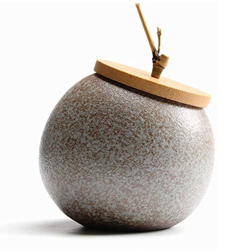 XUETTINGMY URNA Adultos orgánicos, urnas distribuidores para Ceniza, urna Biodegradable, cerámica Muestra la URN en casa/Oficina. (Color : H)