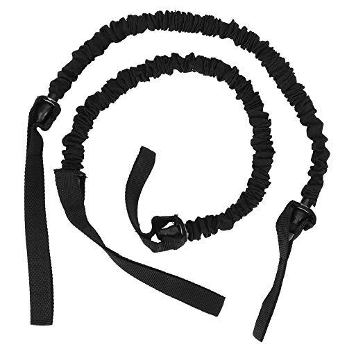 Heitune Fitness Roller Workout Bauchtrainingsgerät Assist Zugband Widerstand Gürtel Zubehör Dual-Seil-Schwarz