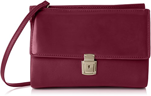 French Connection Damen CLEAN PU CARINA CLUTCH, Violett (DARK MAGENTA 60), 25x18x8 cm