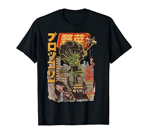 Japanese Japan Kaiju Gemüse Brokkoli Anime T-Shirt