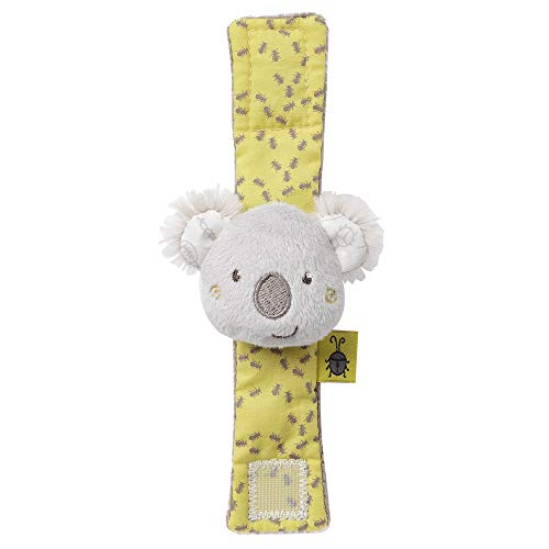 FEHN 064544 Pulsera sonajero Koala/pulsera de actividad con bonitos cabezas de animales para agarrar, sonajeros, agitación y sonidos para bebés y niños pequeños a partir de 0 meses