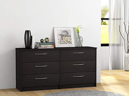 Homestar Finch 6 Drawer Dresser, 54.5' x 15.63' x 28', Espresso