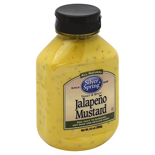 Silver Spring, Jalapeno Mustard, 9.5oz Container (Pack of 3)3