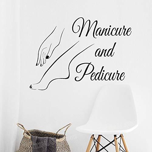 Manucure Pédicure Logo Logo Sticker Autocollant Nail Art Decal Décoration 79X56 cm