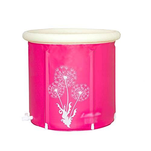 XiuHUa Faltbare Plastikbadewanne, tragbare, alleinstehende Verdickungsbadewanne für den Haushalt, dampfende Sauna, Dampfbegasungsmaschine, runde Badewanne, Babyschwimmen Badewanne