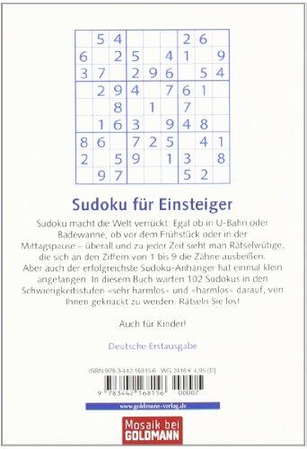 Sudoku für Anfänger: 102 einfache Zahlenrätsel