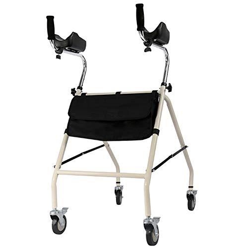 SLDAGe Rollator, Armstütze Allrad Walker Einstellbare Ellenbogenstütze Höhenverstellbar Einfach Zu Falten Hilfsmittel Geeignet FüR Personen Mit Eingeschränkter Mobilität