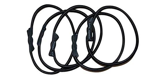 JOKA FIT 5X Gummies/Bungees für Fitnesstrampolin, Spanngummis Seilringe Ersatz für die Indoortrampoline Cacau