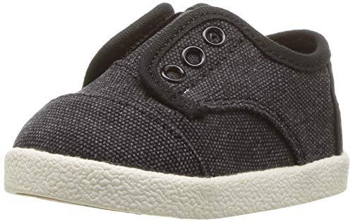 TOMS Unisex-Kid's Paseo Sneaker, Black Washed Canvas, 13 Medium US Little Kid