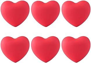6 stks zachte rubberen cartoon hart vorm kast lade knoppen meubels pull handgrepen creatieve pull handvat voor kast garder...
