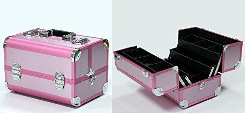 Polironeshop Aruna Valigia Beauty Case Trolley per Trucco Make up Estetista Manicure estetica ricostruzione Unghie Nail Art