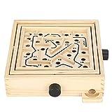 Laberinto de madera, juego de laberinto, juego interactivo de pelota de equilibrio de escritorio para niños y adultos, juguetes de inteligencia, juguete educativo de regalo para 6 años en adelante,S