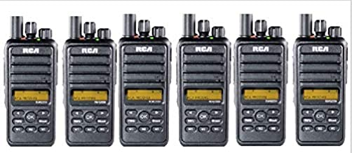 RCA 6 Pack RCX2550V6PK Business Ready 5 WATT VHF: 136-174 MHz DMR Digital Portable Radio (6 RADIOS)