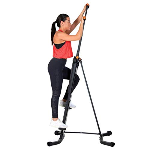 QAZWC-A1 Stepper Vertical Climber Fitness Folding Exercise Climbing Machine Folding Max Load 300KG Height Adjustable Whole Body Aerobic Training