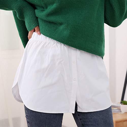 Lifemaison Layering Fake Top Unterer Saum Einstellbare Schichtung Fake Top Lower Sweep Rock Halbe Länge Knopfleiste Hemd Saum für Pullover Sweatshirt Jacke Mantel Minirock