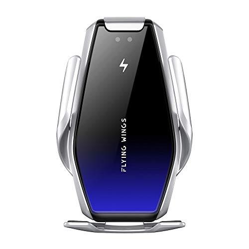 ADDANY Cargador de coche inalámbrico de 15 W/10 W Qi de carga rápida para ventilación de aire y salpicadero; cargador inalámbrico de auto para iPhone SE/11/11 Pro/XS Max/8, Samsung Galaxy S10/Note10