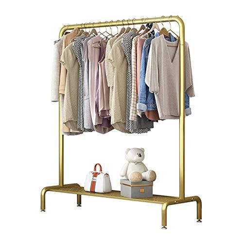 Perchero de pared de metal, con marco de red + almohadilla ajustable, bonito y moderno, estable y duradero, utilizado para ropa, zapatos, cajas de almacenamiento/dorado / 12