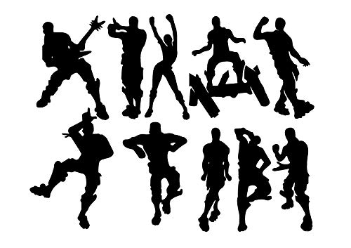 """LHKSER Game Wall Decal Wall Sticker Poster Floss Dancing Decal Nursery Boys Room Wall Vinyl Decal Game Stickers (Black)(23.6"""" x 19.6"""")"""