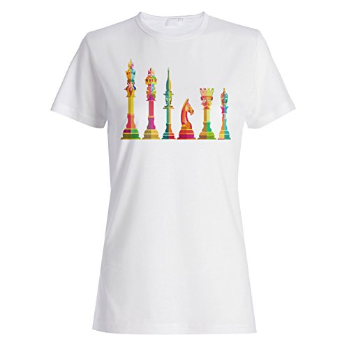Pieza de ajedrez Art Camiseta de Las Mujeres v538f