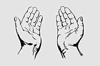 Praying Hands Christianity Symbol Church. Transfer tattoos tattooing temporary tattoos Cute Face stickers