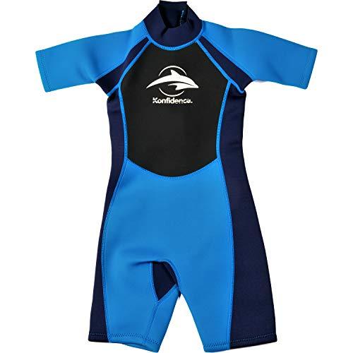 Konfidence Kinder Shortie Wetsuit - Blauw (7-8 jaar)