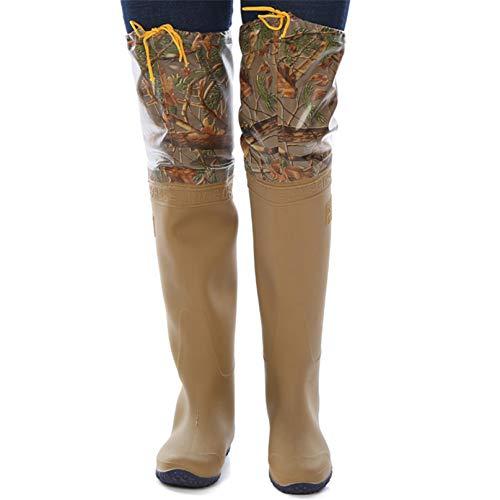 QTDZ Stivali in Gomma da Pesca in PVC Nylon con Movimento All aperto, Stivali da Caccia Antiscivolo Impermeabili per Uomo E Donna Taglia 36-45 Stivali da Caccia Ultra Leggeri da Pesca,Giallo,40 EU