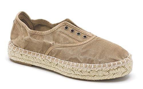 Natural World Eco – Zapatilla Inglés Yute Tintado Eco 687E – Zapatillas Veganas – Tela – para Mujeres a la Moda – Estilo Fashion