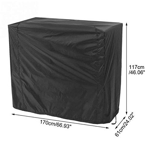 Jun Black Waterproof BBQ Cover BBQ Grill Cover Outdoor Barbecue Covers Garden Patio Grill Dust-Proof Cover Anti Dust Rain Gas Cover,03