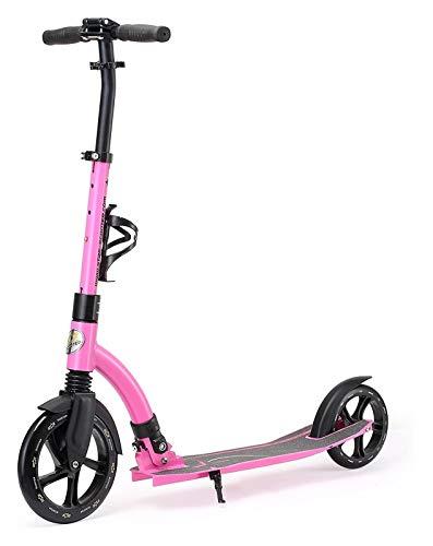 JSZHBC Big Wheel Push Kick Scooter Plegable for Adultos de hasta 220 lbs, Adolescentes y niños de 8 años niñas de 8 años |230mm Ultimate Edition | Portátil (Color : Multi-Colors)