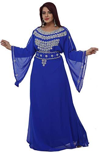 Maxim Creation Vestido marroquí de la manga del cinturón real sueco vestido de novia vestido de fiesta de té 8358
