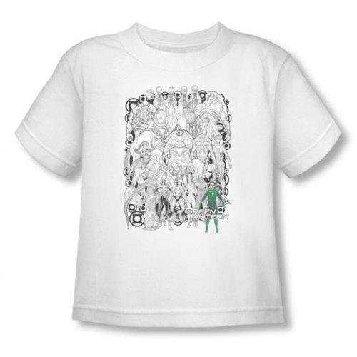 Green Lantern - - Petite enfance Lanternes Réunis (vidéo) T-shirt en blanc, 2T, White