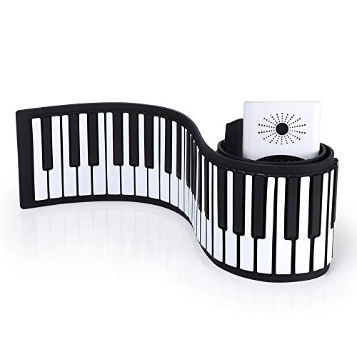 KKTECT Piano digital enrollable de 88 teclas Teclado digital plegable...