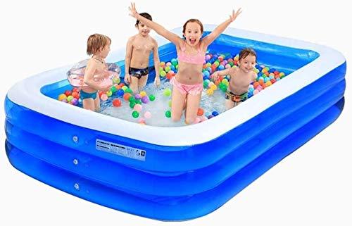 Zomer Draagbaar Rechthoekig Familie Plezier Lounge Zwembad Drie Ring Reparatie Patch Zee Zwembad Met Elektrische Luchtpomp Tuin Zwemmen Peddelen