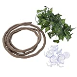 POPETPOP Reptile Toy Jungle <span class='highlight'>Vines</span> Branch Artificial <span class='highlight'>Ivy</span> Leaf Decor with Suckers <span class='highlight'>for</span> Lizard Frogs Snakes and <span class='highlight'>Reptiles</span>