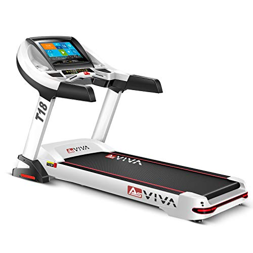 "AsVIVA Laufband T18 Pro, WiFi kompatibel, Heimtrainer mit 15,6"" Touchscreen, Android-Computer, 15% Steigung elektronisch, 7PS Motor bis 20km/h, Pulsempfänger inkl. Brustgurt, klappbar"