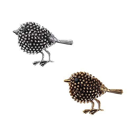Nobranded 2 Piezas Colección de Pájaros Encantadores Broches de Boda de Animales Personalizados Joyería de Abuelo