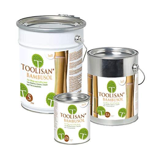 (39,87 €/L) Bambus Pflegeöl hell - Hochwertiges Ölharz für Zäune, Rohre & Terrassendielen 0,75 Liter