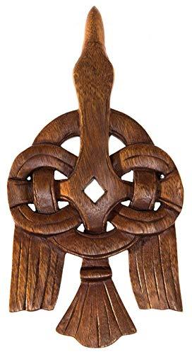 Windalf Hugin - Cuadro de Pared (30 cm, Hecho a Mano, Madera), diseño de Cuervo Vikingo