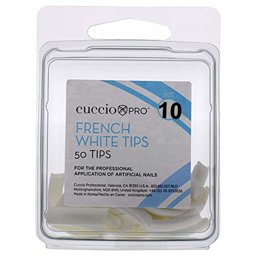 Cuccio Pro French White Tips 10 by for Women 50 Ongles en Acrylique 50 Unités