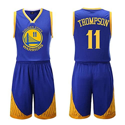 THZCMY Warriors # 11 Klay Thompson Basketball Jersey Suit Ropa Deportiva Sin Mangas Tank Top Shorts Camisetas de Baloncesto Uniformes Competición Show Party