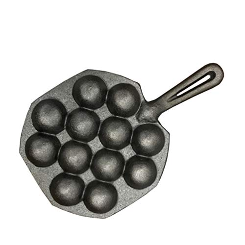 Cabilock Takoyaki Oktopus Pfanne Gusseisen Grillplatte für Poffertjes Pancake Balls Thai Kanom Krok und andere Desserts Bälle