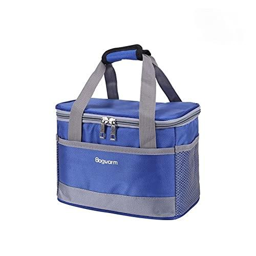 HBDY 5L/8L portátil Oxford bolsa de nevera impermeable picnic térmica aislado paquete de hielo fresco termo alimentos frescos latas almuerzo cajas bolsas (azul claro, 5L)