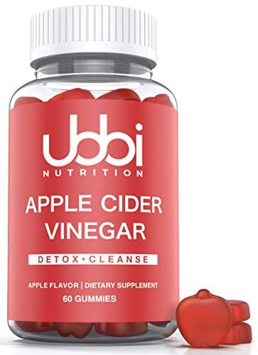 Apple Cider Vinegar Gummies by Ubbi Nutrition (60 Day Supply) Detox Support, Vegetarian, Vitamin B6 & B12, Pomegranate, Beetroot ACV