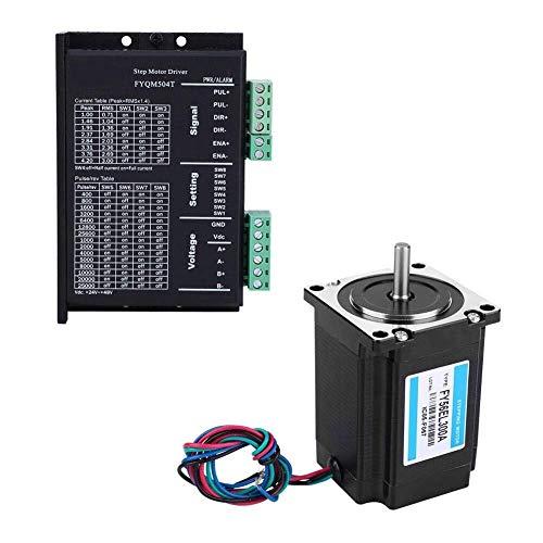 HYY-YY Motor de Pasos del Juego de Controladores, DC 24-40V 1,5 NM Nema 23 1.0-3.0A 1,8 ° Ajustable/Fase Motor de Pasos del Conductor Conjunto de maquinaria de envasado